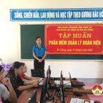 LĐLĐ huyện Đô Lương: Tập huấn phần mềm quản lý đoàn viên Công đoàn