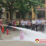 Công an huyện Đô Lương tập huấn nghiệp vụ PCCC cho lực lượng PCCC ở cơ sở