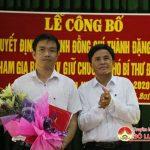 Huyện ủy Đô Lương công bố quyết định chỉ định Phó bí thư ban chấp hành Đảng bộ xã Thượng Sơn