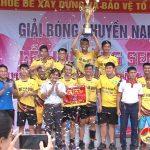 Hấp dẫn các trận đấu bán kết và chung kết giải bóng chuyền nam Làng sen huyện Đô Lương năm 2019