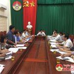 Hội nghị thống nhất nội dung, chương trình kỳ họp lần thứ 9 HĐND huyện khóa XIX- nhiệm kỳ 2016- 2021