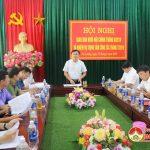 Huyện ủy tổ chức hội nghị giao ban khối nội chính tháng 6