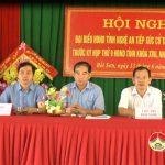 Đại biểu HĐND tỉnh tiếp xúc cử tri tại xã Bồi Sơn trước kỳ họp thứ 9 HĐND nhiệm kỳ 2016-2021.