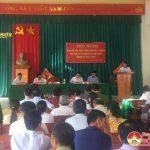 Đại biểu HĐND tỉnh và huyện tiếp xúc cử tri xã Lưu Sơn