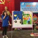 """Tân Sơn tổ chức hội thi vẽ tranh với chủ đề """" An toàn cho phụ nữ và trẻ em""""."""
