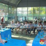Đồng chí Phùng Thành Vinh- Chủ tịch UBND huyện làm việc với Trung  tâm Văn hóa, Thể thao và Truyền thông huyện