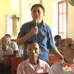 Đại biểu HĐND huyện tiếp xúc cử xã Tràng Sơn