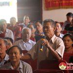 Đồng chí Lê Minh Giang Phó Bí thư thường trực huyện ủy, Chủ tịch HĐND huyện tiếp xúc cử tri Thị trấn