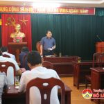 Huyện uỷ tổ chức giao ban khối nội chính tháng 7