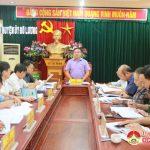 Ban thường vụ Huyện uỷ tổ chức hội nghị bàn các giải pháp xây dựng nông thôn mới
