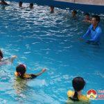 """Trường THCS Lý Nhật Quang triển khai chương trình """" toàn trường biết bơi""""."""