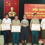 Đô Lương: Tổng kết công tác thực hiện quyết định 49 về chế độ chính sách đối với dân công hỏa tuyến.