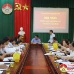 UBND Huyện tổ chức hội nghị triển khai nhiệm vụ tháng 8 năm 2019.