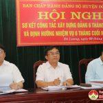 Huyện ủy Đô Lương sơ kết công tác xây dựng Đảng 6 tháng đầu năm, định hướng nhiệm vụ 6 tháng cuối năm 2019.