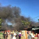 Cháy chợ Thượng Sơn- Đô Lương, hàng trăm người cứu chữa