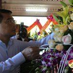 Đồng Chí Lê Minh Hưng Thống đốc ngân hàng nhà nước về dâng hương  tại Di tích lịch sử Truông bồn