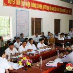 UBND huyện làm việc với Đảng ủy xã Bài Sơn về kết quả Kinh tế- Xã hội 9 tháng đầu năm và kết quả thược hiện chương trình mục tiêu nông thôn mới.