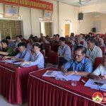 Ban chỉ đạo xây dựng nông thôn mới huyện thẩm định kết quả xây dựng nông thôn mới xã Trù Sơn.