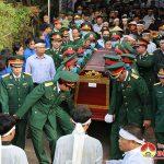 Đô Lương tổ chức lễ an táng Thiếu tá Liệt sỹ Nguyễn Cảnh Trung, hi sinh trong thực hiện nhiệm vụ giúp nhân dân khắc phục hậu quả mưa lũ tại Tỉnh Quảng Trị.