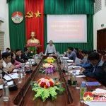 UBND huyện tổ chức hội nghị thường kỳ đánh giá kết quả tháng 10, triển khai nhiệm vụ tháng 11.