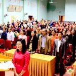 Hội phụ nữ xã Yên Sơn tổ chức kỷ niệm 90 năm ngày thành lập hội.