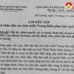 Ủy Ban MTTQ huyện Đô Lương kêu gọi ủng hộ nhân dân các tỉnh miền Trung khắc phục hậu quả thiên tai.