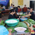 Nhân dân khối 6 Thị Trấn Đô Lương ủng hộ 2500 bánh chưng và nhiều hàng hóa hỗ trợ nhân dân miền Trung.