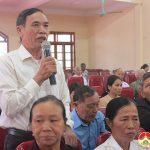 Đại biểu Quốc hội tiếp xúc cử tri trước kỳ họp thứ 10 tại Đô Lương