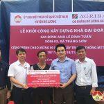 Ngân hàng nông nghiệp và Phát triển nông thôn huyện Đô Lương hỗ trợ 70 triệu đồng xây dựng nhà Đại đoàn kết cho hộ nghèo ở xã Tràng Sơn