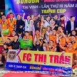 """Đội bóng đá Thị trấn Đô Lương đạt chức Vô địch giải bóng đá """" Đồng hương Đô Lương"""" tại thành phố vinh."""