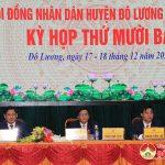 Đô Lương bế mạc kỳ họp HĐND huyện lần thứ 13 khóa XIX.