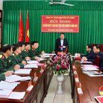 Đảng ủy quân sự huyện ra nghị quyết lãnh đạo thực hiện nhiệm vụ năm 2021