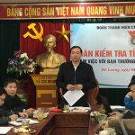 Đoàn kiểm tra tỉnh đoàn Nghệ An làm việc ban thường vụ Huyện đoàn Đô Lương