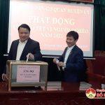 Cơ quan Huyện ủy ủng hộ Tết vì người nghèo