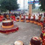 Rộn ràng đội trống nữ giáo họ làng Trung Hậu