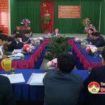 UBND huyện Đô Lương làm việc với xã Văn Sơn