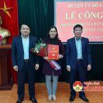 Huyện ủy Đô Lương: Công bố quyết định bổ nhiệm chức danh Phó ban  tuyên giáo.