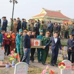 Đô Lương tổ chức lễ Truy điệu và an táng hài cốt liệt sĩ Nguyễn Văn Hòa.