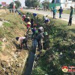 Xã Lạc Sơn nạo vét 1,2 km kênh dẫn nước phục vụ sản xuất vụ Xuân