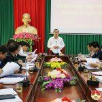 UBND huyện tổ chức phiên họp thường kỳ tháng 1 năm 2021.