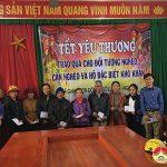 Trường THCS Lý Nhật Quang và Cty cổ phần KDTH Đô Lương tặng quà tết cho hộ nghèo xã Giang Sơn Đông.