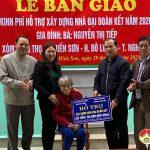 Công ty cổ phần tập đoàn Phúc Sơn trao 8 nhà đại đoàn kết tại Đô Lương.