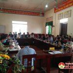 Ban Thường vụ Huyện ủy làm việc với xã Đại Sơn về tình hình phát triển Kinh tế – Xã hội, xây dựng hệ thống chính trị và xây dựng nông thôn mới năm 2021.