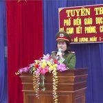 Công an Đô Lương tăng cường công tác tuyên truyền Nghị định 137