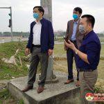 Đồng chí Nguyễn Trung Thành – Phó chủ tịch UBND huyện kiểm tra công tác đảm bảo ANTT, An toàn giao thông trước tết nguyên đán Tân Sửu