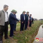 Đồng chí Hoàng Nghĩa Hiếu –Phó chủ tịch UBND tỉnh kiểm tra tình hình sản xuất vụ Xuân tại Đô Lương