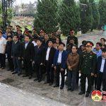 Lãnh đạo huyện Đô Lương dâng hoa, dâng hương tại nghĩa trang liệt sỹ huyện