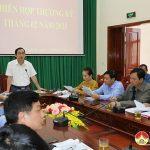 UBND huyện tổ chức hội nghị thường kỳ tháng 2/2021.