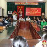 Đồng chí Hoàng Văn Hiệp – Phó bí thư, Chủ tịch UBND huyện gặp mặt, động viên các em học sinh tham gia kỳ thi chọn học sinh giỏi tỉnh lớp 9