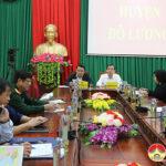 Lãnh đạo huyện Đô Lương tham gia hội nghị trực tuyến do UBND tổ chức